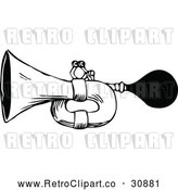 Vector Clip Art of a Retro Horn by Prawny Vintage
