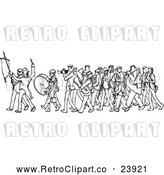 Vector Clip Art of a Retro Marching Band by Prawny Vintage