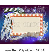 Vector Clip Art of a Retro Marquee Theater Sign V1000001 by AtStockIllustration