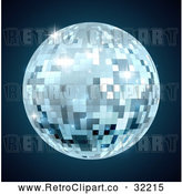 Vector Clip Art of a Retro Mirror Disco Ball by AtStockIllustration