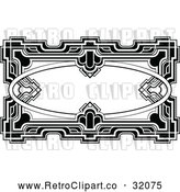 Vector Clip Art of a Retro Ornate Deco Frame by AtStockIllustration