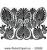 Vector Clip Art of a Retro Pattern by Prawny Vintage