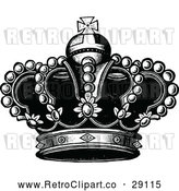 Vector Clip Art of a Retro Royal Crown by Prawny Vintage