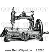 Vector Clip Art of a Retro Sewing Machine by Prawny Vintage
