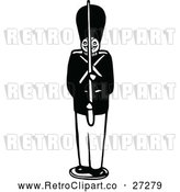 Vector Clip Art of a Retro Toy Soldier by Prawny Vintage
