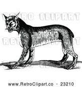 Vector Clip Art of an Aggressive Retro Bobcat by Prawny Vintage