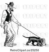 Vector Clip Art of Angry Sheriff and Blood Hound off Track by Prawny Vintage