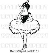 Vector Clip Art of Ballerina Smoking a Cigarette by Prawny Vintage