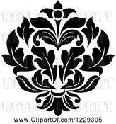 Vector Clip Art of Black and White Arabesque Damask Design 9 by Vector Tradition SM