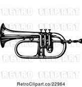Vector Clip Art of Bugle Horn by Prawny Vintage