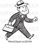 Vector Clip Art of Business Man Carrying a Briefcase by BestVector