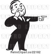 Vector Clip Art of Business Man Pointing to the Right by BestVector