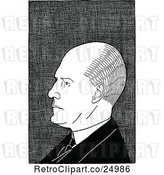 Vector Clip Art of Caricature of John Galsworthy by Prawny Vintage