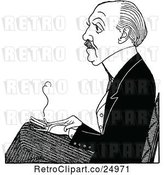 Vector Clip Art of Caricature of Max Beerbohm by Prawny Vintage