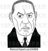 Vector Clip Art of Caricature of William Babington Maxwell by Prawny Vintage