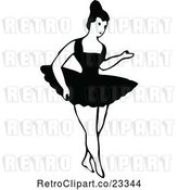 Vector Clip Art of Dancing Ballerina 3 by Prawny Vintage