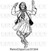 Vector Clip Art of Dancing Scotsman by Prawny Vintage