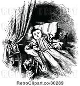 Vector Clip Art of Dog by a Baby with a Rattle by Prawny Vintage