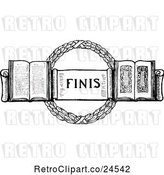 Vector Clip Art of Finis Page Design by Prawny Vintage