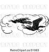 Vector Clip Art of Flying Crows by Prawny Vintage