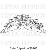 Vector Clip Art of Group of Cherubs by Prawny Vintage