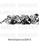 Vector Clip Art of Group of Musicians by Prawny Vintage