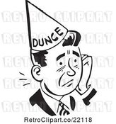 Vector Clip Art of Guy in a Dunce Hat by BestVector