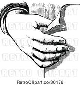 Vector Clip Art of Hand Holding Paper by Prawny Vintage