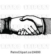 Vector Clip Art of Hand Shake by Prawny Vintage