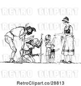 Vector Clip Art of Lady Giving Alms to the Poor by Prawny Vintage