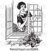 Vector Clip Art of Lady Washing Windows by Picsburg