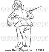 Vector Clip Art of Man with a Cane 2 by Prawny Vintage