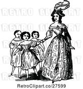 Vector Clip Art of Mother and KChildren by Prawny Vintage