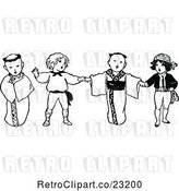 Vector Clip Art of Multi Cultural KChildren Singing by Prawny Vintage