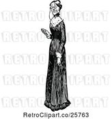 Vector Clip Art of Old Lady in a Long Dress by Prawny Vintage