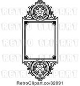 Vector Clip Art of Ornate Floral Frame by AtStockIllustration