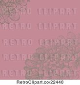 Vector Clip Art of Pink and Brown Floral Background by BestVector