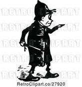 Vector Clip Art of Police Guy Pointing 2 by Prawny Vintage