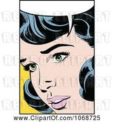 Vector Clip Art of Pop Art Black Haired Lady Talking 1 by Brushingup