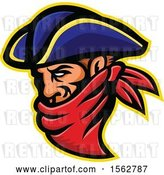 Vector Clip Art of Retro 17th Century Highwayman Robber Mascot Wearing a Bandana by Patrimonio