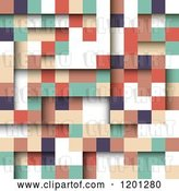 Vector Clip Art of Retro 3d Abstract Square Background by KJ Pargeter
