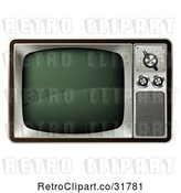 Vector Clip Art of Retro 3d Box Television by AtStockIllustration
