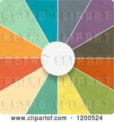 Vector Clip Art of Retro 3d White Dial and Colorful Segments by Elaineitalia