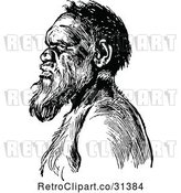 Vector Clip Art of Retro Aboriginal Guy in Profile by Prawny Vintage