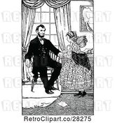 Vector Clip Art of Retro Abraham Lincoln and Girl by Prawny Vintage