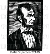 Vector Clip Art of Retro Abraham Lincoln Portrait by Prawny Vintage