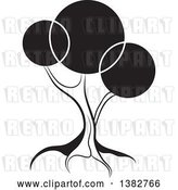 Vector Clip Art of Retro Abstract Tree with Circles by MilsiArt
