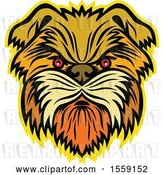 Vector Clip Art of Retro Aggressive Affenpinscher Monkey Terrier Dog by Patrimonio