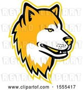 Vector Clip Art of Retro Akita Dog Mascot Head by Patrimonio