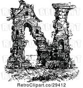 Vector Clip Art of Retro Alphabet Letter N Ruins by Prawny Vintage